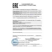 Сертификат соответствии Таможенного Союза фото