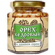 Ядро кедрового ореха в сосновом сиропе 220 г Сибирский Знахарь фото