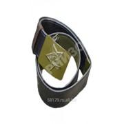 Ремень солдатский брезентовый обливной с бляхой защитного цвета фото