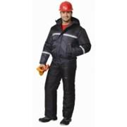 Куртка Гастарбайтер-2 короткая, тёмно-серая с чёрным и СОП фото