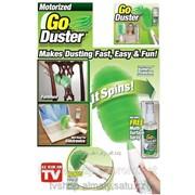 Щетка вращающаяся от пыли go duster работает от аккумулятора фото
