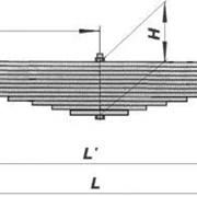 Рессора передняя усиленная УРАЛ 55571-2902014 фото