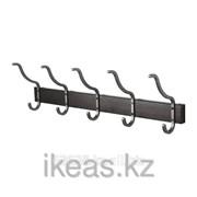 Вешалка для полотенец с 5 крючками, морилка черно-коричнев ХЭЛМАРЕН фото