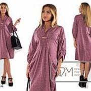 Платье женское сиреневое большие размеры (3 цвета) PY/-073 фото