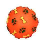 """Игрушка для собак """"Мяч с лапками и косточками"""", d 110мм фото"""