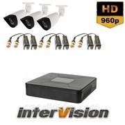 Комплект видеонаблюдения KIT-OUT 3801: 3 видеокамеры 1500 TVL Sony Exmor-R+ видеорегистратор 300220 фото