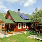 Солнечная водонагревательная система с принудительной циркуляцией фото