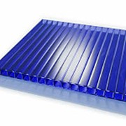 Сотовый поликарбонат 4 мм синий Novattro 2,1x12 м (25,2 кв,м), лист фото