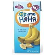 Нектар ФРУТОНЯНЯ из бананов с мякотью, 200г фото