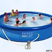Бассейн intex с надувным кольцом 457х457х91 56412 фото