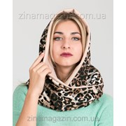 Шарф- Снуд леопардовый фото
