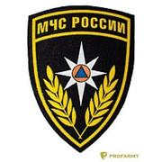 Шеврон пласт.МЧС России (щит) черн Р-6-1 фото