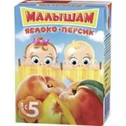 Нектар ФРУТОНЯНЯ Малышам яблоко+персик, 0,2л фото