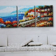 Картина по номерам Городок на побережье фото