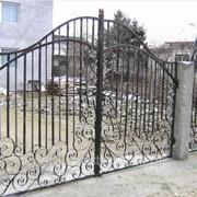 Ворота художественной ковки №47 фото