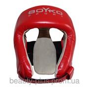 Шлем боксерский BOYKO-SPORT №2 винил красный фото