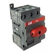 Рубильник ABB OT63E3 до 63А 3х-полюсный для установки на DIN-рейку или монтажную плату фото