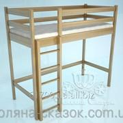Кровать-чердак Классик Natural. Ясень. фото