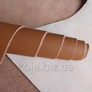 Итальянская кожа мебельная светло-коричневая арт. СК 3002 фото