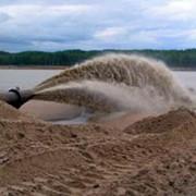 Добыча строительного песка способом гидромеханизации фото