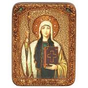 Подарочная икона Святая Равноапостольная Нина, просветительница Грузии на мореном дубе фото