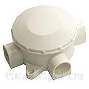 Коробка распаечная КЭМ 3-10-4 75х75х40 мм, IP53, 4 ввода, открытой проводки (250/380В, 10А) белая фото