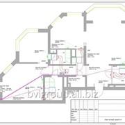 Монтажная схема системы кондиционирования квартиры — 160 м2. фото