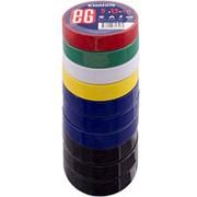 Изолента Еврогарант EG 0.13мм x 15 мм х 5 метров микс цветов, 3 х черная и синяя, 1 х зел, желт, бел, красн фото
