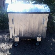 Мусорный контейнер 1,1 м3 оцынкованый фото