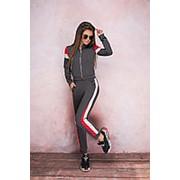 Женский спортивный костюм с лампасами - Серый фото
