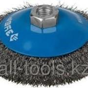 Щетка Зубр Эксперт коническая для УШМ, витая стальная проволока 0,3мм, 100мм/М14 Код:35265-100_z01 фото