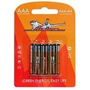 Батарейки LR03/AAA щелочные 4 шт. блистер AIRLINE фото