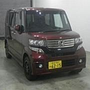 Микровэн турбо HONDA N BOX кузов JF2 класса минивэн модификация Custom G гв 2012 4WD пробег 77 т.км коричневый фото