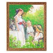 "Картина ""Завтрак в парке"" багет 46х56 см 7280 фото"