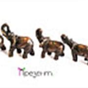 Набор статуэток, семь слонов из бронзы фото