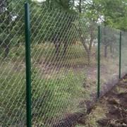 Установка заборов из сетки рабицы в Запорожье фото
