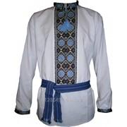 Мужская рубашка Украинское солнце - ручная вышивка (00106) фото