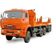 Автопоезд-трубоплетевоз в составе тягача 64263 и прицепа-роспуска 90093 (шасси КАМАЗ-6522 6х6) фото