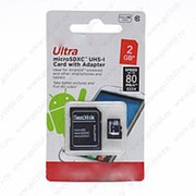 MicroSDHC Disk Ultra 2 гигабайта - фото