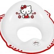 Накладка на унитаз Hello Kittyc нескользящими резинками - белый Maltex. 4667. фото