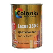 Лак цветной Lazur 350 C Coloriks 115 0.75л (сосна) Артикул 34.90 фото
