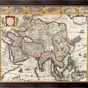 Картина Карта Азии, Неизвестен фото