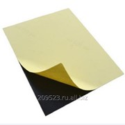Пластик самоклеящийся двухсторонний (пвх лист) 1,0мм 31х46 см черный фото