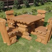 Мебель деревянная садовая. фото