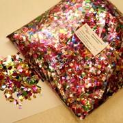 Металлизированное конфетти 6х6мм Мульти фото