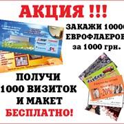 Еврофлаера, визитки за 1день! фото