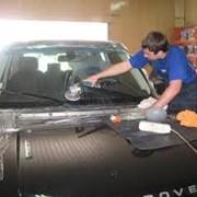 Шлифовка и полировка автомобильного стекла фото
