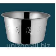 Миска для кошек сталь нержавеющая c тиснением 11,5 см 200 мл фото
