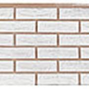 Фасадная панель Т-сайдинг Лондон брик Белый фото