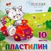 Пластилин 148684 Tukzar Tz 1600 цветной ( 10 цветов ) 200 гр. ( уп.1 шт.) фото